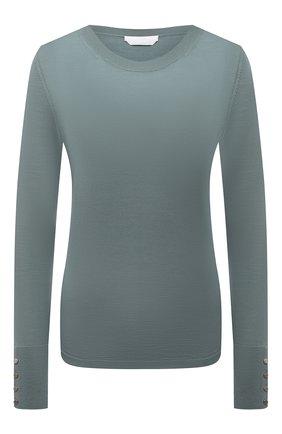 Женский шерстяной пуловер BOSS мятного цвета, арт. 50376532   Фото 1