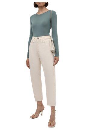Женский шерстяной пуловер BOSS мятного цвета, арт. 50376532   Фото 2