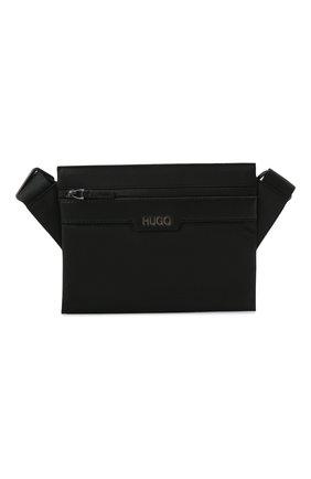 Мужская текстильная сумка HUGO черного цвета, арт. 50452962 | Фото 1 (Ремень/цепочка: На ремешке; Материал: Текстиль)
