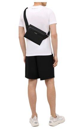 Мужская текстильная сумка HUGO черного цвета, арт. 50452962 | Фото 2 (Ремень/цепочка: На ремешке; Материал: Текстиль)