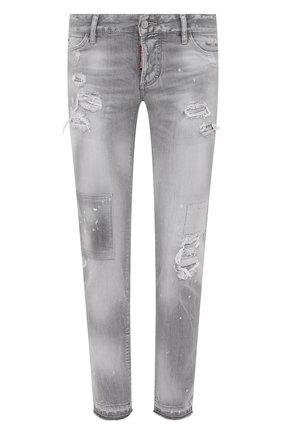 Женские джинсы DSQUARED2 светло-серого цвета, арт. S75LB0537/S30260 | Фото 1