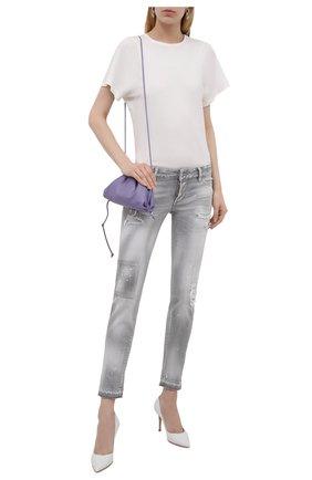 Женские джинсы DSQUARED2 светло-серого цвета, арт. S75LB0537/S30260 | Фото 2