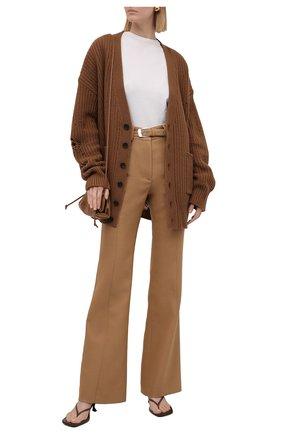 Женский шерстяной кардиган DSQUARED2 коричневого цвета, арт. S75HA1084/S17407 | Фото 2