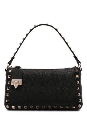Женская сумка rockstud VALENTINO черного цвета, арт. WW2B0J47/VSF   Фото 1 (Материал: Натуральная кожа; Сумки-технические: Сумки top-handle, Сумки через плечо; Ремень/цепочка: На ремешке; Размер: small)