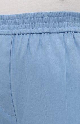 Женские льняные шорты-бермуды JOSEPH голубого цвета, арт. JP001147   Фото 5 (Женское Кросс-КТ: Шорты-одежда; Кросс-КТ: Широкие; Материал внешний: Хлопок, Лен; Длина Ж (юбки, платья, шорты): Миди; Стили: Кэжуэл)
