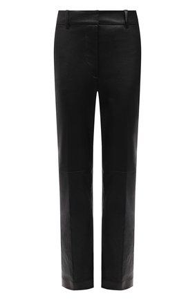 Женские кожаные брюки JOSEPH черного цвета, арт. JF005274   Фото 1