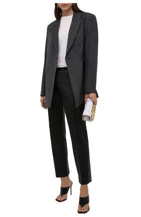 Женские кожаные брюки JOSEPH черного цвета, арт. JF005274   Фото 2