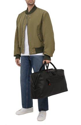Мужская кожаная дорожная сумка SANTONI черного цвета, арт. UIBBA2108LI-GGTQN01 | Фото 2