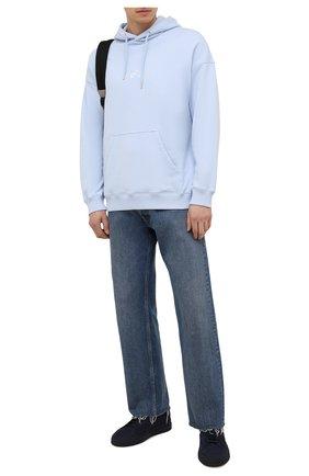 Мужские замшевые кеды gloria SANTONI темно-синего цвета, арт. MBGT21553T0CRBUIU66 | Фото 2