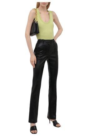 Женские брюки из экокожи GIUSEPPE DI MORABITO черного цвета, арт. PF21050PA-138 | Фото 2