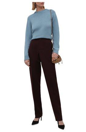 Женский кашемировый свитер LORO PIANA голубого цвета, арт. FAL8594   Фото 2 (Материал внешний: Шерсть, Кашемир; Рукава: Длинные; Длина (для топов): Стандартные; Стили: Кэжуэл; Женское Кросс-КТ: Свитер-одежда)