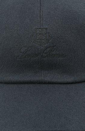 Мужской кашемировая бейсболка LORO PIANA темно-синего цвета, арт. FAF8520   Фото 3