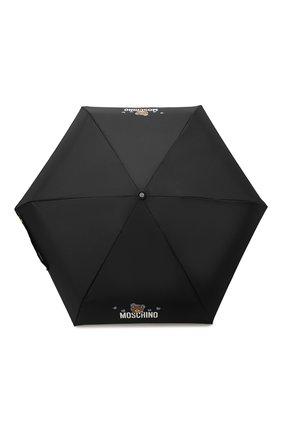 Женский складной зонт MOSCHINO черного цвета, арт. 8042-SUPERMINI | Фото 1