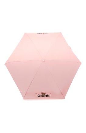Женский складной зонт MOSCHINO светло-розового цвета, арт. 8042-SUPERMINI | Фото 1