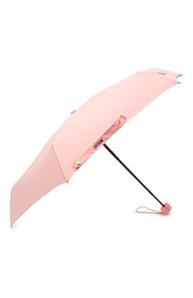 Женский складной зонт MOSCHINO светло-розового цвета, арт. 8042-SUPERMINI | Фото 2