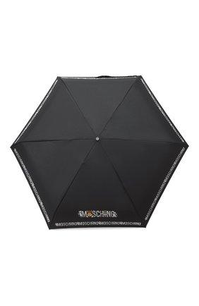 Женский складной зонт MOSCHINO черного цвета, арт. 8123-SUPERMINI | Фото 1