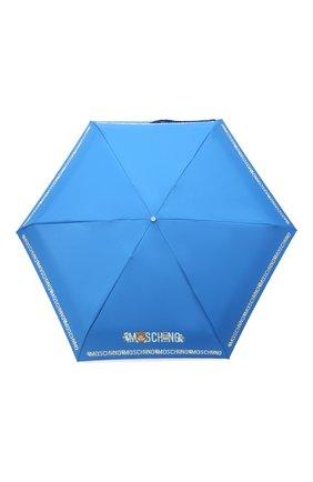 Женский складной зонт MOSCHINO голубого цвета, арт. 8123-SUPERMINI | Фото 1