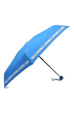 Женский складной зонт MOSCHINO голубого цвета, арт. 8123-SUPERMINI | Фото 2