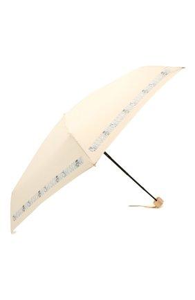 Женский складной зонт MOSCHINO кремвого цвета, арт. 8123-SUPERMINI | Фото 2