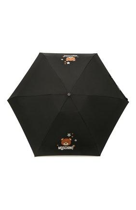 Женский складной зонт MOSCHINO черного цвета, арт. 8211-C0MPACT | Фото 1