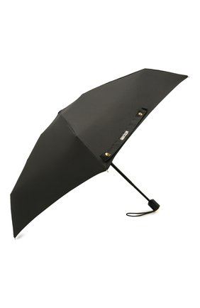 Женский складной зонт MOSCHINO черного цвета, арт. 8211-C0MPACT | Фото 2