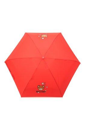 Женский складной зонт MOSCHINO красного цвета, арт. 8211-C0MPACT | Фото 1