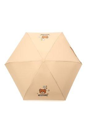 Женский складной зонт MOSCHINO бежевого цвета, арт. 8211-C0MPACT | Фото 1