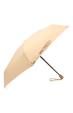 Женский складной зонт MOSCHINO бежевого цвета, арт. 8211-C0MPACT | Фото 2