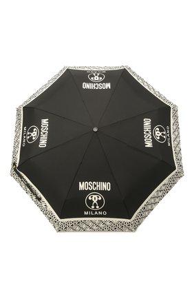 Женский складной зонт MOSCHINO черно-белого цвета, арт. 8872-0PENCL0SE | Фото 1