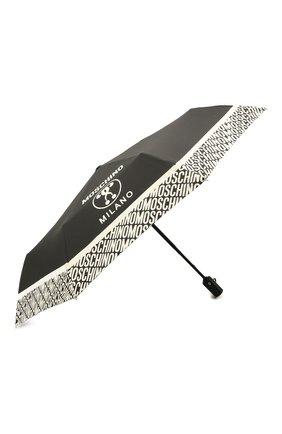 Женский складной зонт MOSCHINO черно-белого цвета, арт. 8872-0PENCL0SE | Фото 2