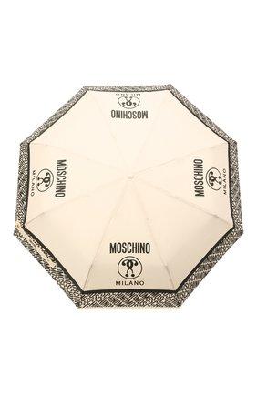 Женский складной зонт MOSCHINO кремвого цвета, арт. 8872-0PENCL0SE | Фото 1
