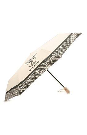 Женский складной зонт MOSCHINO кремвого цвета, арт. 8872-0PENCL0SE | Фото 2