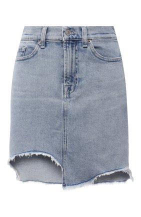 Женская джинсовая юбка 7 FOR ALL MANKIND голубого цвета, арт. JSSKB750L0   Фото 1