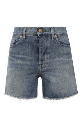Женские джинсовые шорты 7 FOR ALL MANKIND голубого цвета, арт. JSSHB750MW | Фото 1