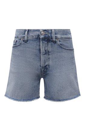 Женские джинсовые шорты 7 FOR ALL MANKIND голубого цвета, арт. JSSHB750L0 | Фото 1
