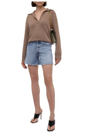 Женские джинсовые шорты 7 FOR ALL MANKIND голубого цвета, арт. JSSHB750L0 | Фото 2