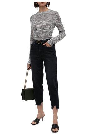 Женские джинсы 7 FOR ALL MANKIND темно-серого цвета, арт. JSA7B94TAN | Фото 2