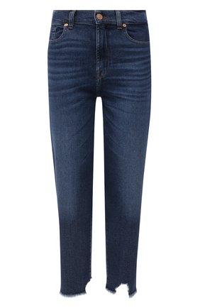 Женские джинсы 7 FOR ALL MANKIND темно-синего цвета, арт. JSA7120TRJ | Фото 1