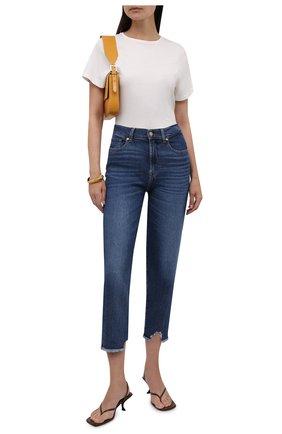 Женские джинсы 7 FOR ALL MANKIND темно-синего цвета, арт. JSA7120TRJ | Фото 2