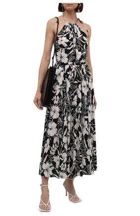 Женское платье из вискозы POLO RALPH LAUREN черно-белого цвета, арт. 211838961 | Фото 2 (Случай: Повседневный; Стили: Романтичный; Женское Кросс-КТ: Платье-одежда; Материал внешний: Вискоза; Длина Ж (юбки, платья, шорты): Макси)