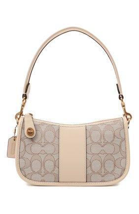 Женская сумка swinger mini COACH бежевого цвета, арт. C2325   Фото 1