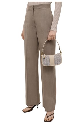 Женская сумка swinger mini COACH бежевого цвета, арт. C2325   Фото 2