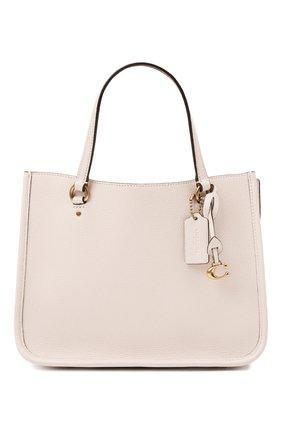 Женская сумка-тоут tyler COACH кремвого цвета, арт. C3460   Фото 1