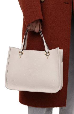 Женская сумка-тоут tyler COACH кремвого цвета, арт. C3460   Фото 2