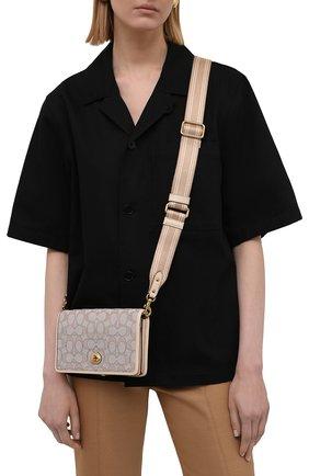 Женская сумка hayden COACH бежевого цвета, арт. C3824   Фото 2