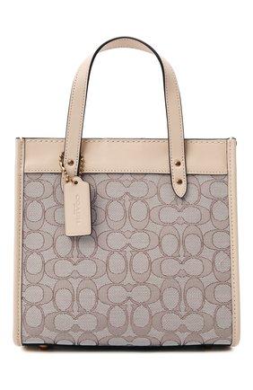 Женский сумка-тоут field COACH бежевого цвета, арт. C3865   Фото 1
