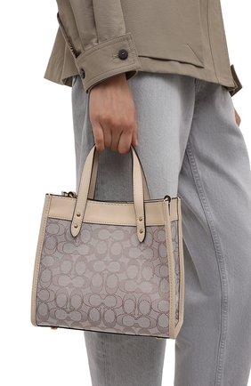Женский сумка-тоут field COACH бежевого цвета, арт. C3865   Фото 2