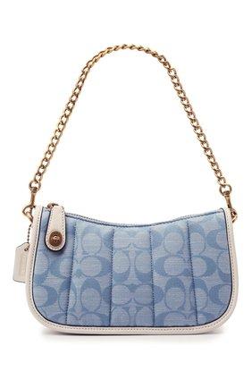 Женская сумка swinger mini COACH голубого цвета, арт. C5016   Фото 1