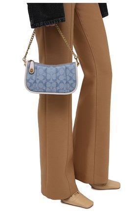 Женская сумка swinger mini COACH голубого цвета, арт. C5016   Фото 2