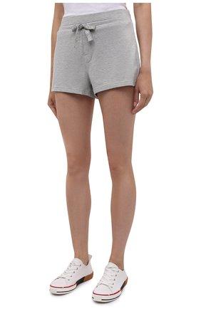 Женские шорты CALVIN KLEIN серого цвета, арт. QS6704E   Фото 3 (Длина Ж (юбки, платья, шорты): Мини; Материал внешний: Синтетический материал, Хлопок)